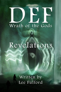 Preview of SF book cover art for Revelations. The second part of DEF Wrath of the Gods